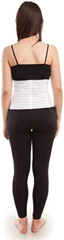 """GABRIALLA Women's Breathable Abdominal/Back Support Binder AB-309: White , Small Up to 34"""" 2"""
