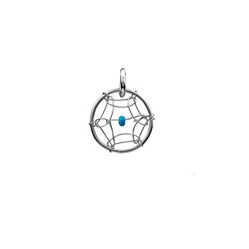 Dream Catcher Sterling Silver Turquoise Imitation Very Small Thin Tiny Charm 10mm