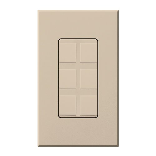Lutron NT-6PF-TP Six Port Frame W/Blanks Nt* Taupe Taupe