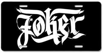 2 Pack Joker Calligraphy License Plate 12 X 6 in