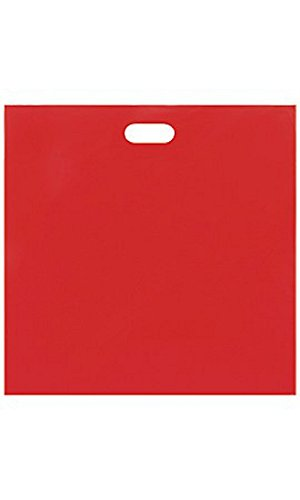 Jumbo Low Density Red Merchandise Bags - Case of 500 by STORE001