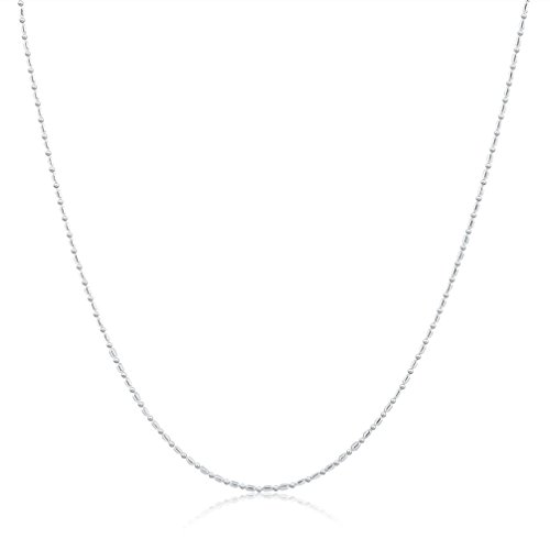 Necklace, Hatop Fashion Women Men Silver Necklaces Chain Necklace Silver Jewelry (22inch) (Native Indian Makeup)