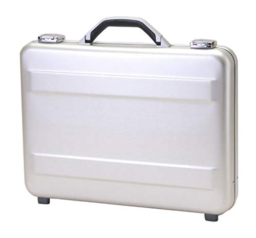 T.Z. Case International T.z Slimline Molded Aluminum Attache Case, Silver, 18 X 13 X 3