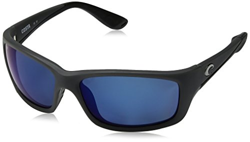 Costa Del Mar Jose Sunglasses, Matte Gray, Blue Mirror 580 Plastic - Jake Blues Sunglasses