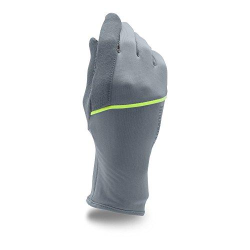 Under Armour Womens No Breaks ColdGear Infrared Liner Gloves, Steel (035)/Silver, Medium