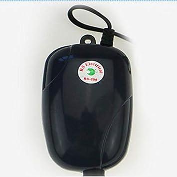 Candybush 220/240 V Bomba de Aire del Acuario Fish Tank Mini Compresor silencioso Salida de oxígeno Bombas acuarios Accesorios acuáticos: Amazon.es: Jardín