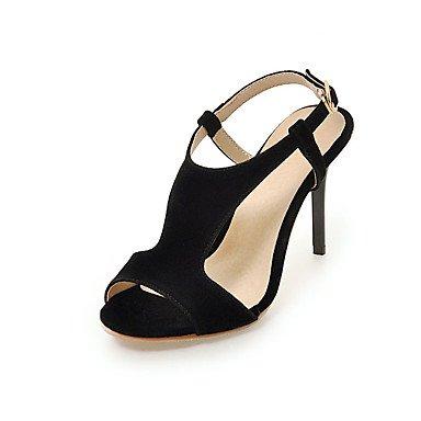 pwne Zapatos De Mujer Sandalias Comfort Polipiel Primavera Verano Otoño Office &Amp; Carrera Vestir Hebilla Casual Stiletto Talón Rubor Rosa Rojo Y Negro3A-3 US1.5 / EU31 / UK0.5 / CN30