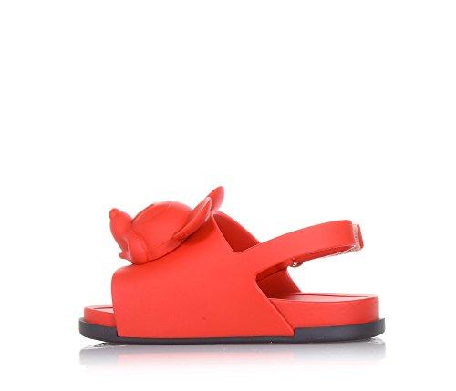 Rouge Sandale Made Melissa De Fille Filles Mini D'un Avec Motif Frontale Brazil In Partie Sur Minnie Application La HpqEffn
