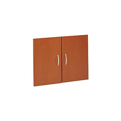 Bush Business Furniture Series C Collection Half-Height 2 Door Kit in Auburn Maple