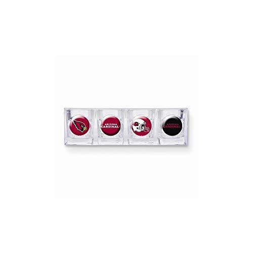 - NFL Arizona Cardinals Four Piece Square Shot Glass Set (Individual Logos)