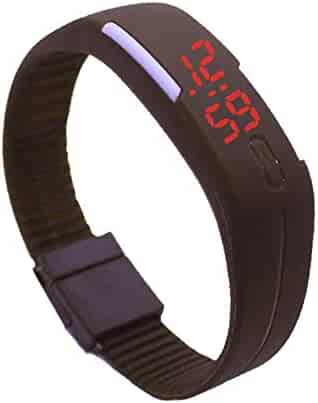 LED Wrist Watch Silicon Band Unisex (Brown)