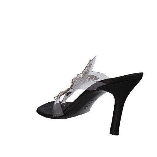 scarpe donna STUART WEITZMAN 35 EU sandali nero / trasparente plastica / raso WH107