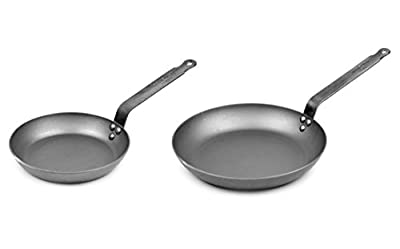 Mauviel Made In France M'steel Frying Pan, 11-Inch & 8-in Set
