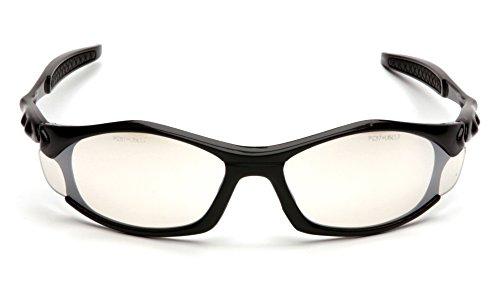 Pyramex Solara Safety Eyewear, Indoor/Outdoor Mirror Lens With Black ()