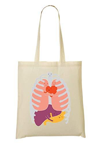 Bolso La Compra Cute Happy Bolsa Mano De Organs Healthy Internal RaMedia And De dYfwnP7fpq
