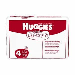 Huggies Little Movers Diapers, Ebulk, Size 4, 198 Count (packaging may vary)