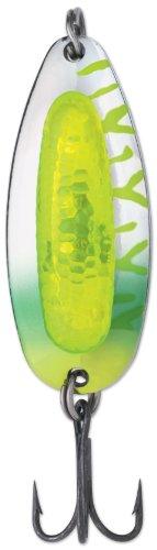 Blue Fox 7/8-Ounce Rattlin' Pixee Spoon, Fluorescent Chartreuse UV ()