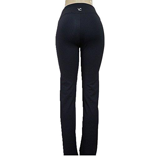 Victoria's Challenge Linen Look Lycra Dress Pants Yoga Boot Cut Hi Rise 17YP XTall 35