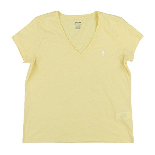 Shirt Giallo Manica Corta T Lauren Ralph Donna qWwptv8xP