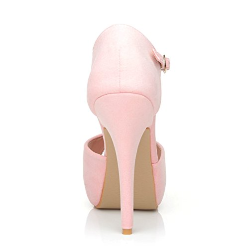 ShuWish UK London, Escarpins pour femme rose BABY PINK SUEDE