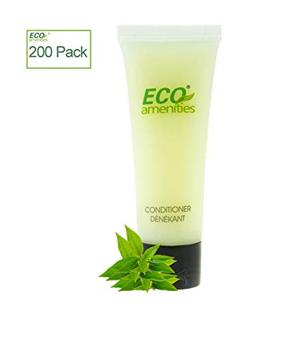 ECO AMENITIES Travel size 1.1oz hotel conditioner in bulk, Clear, Green Tea, 200 Count from ECO Amenities