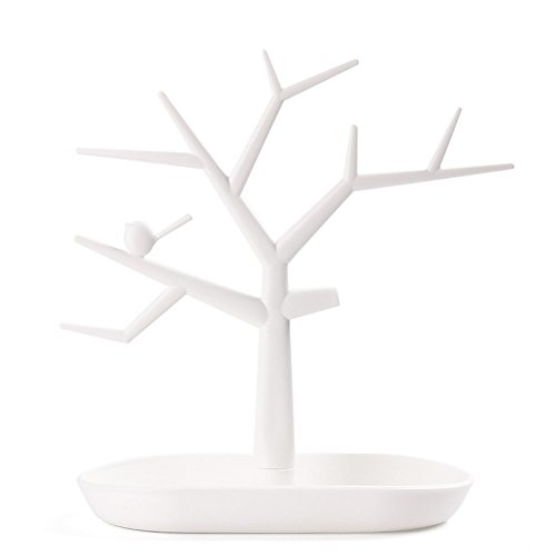 MEXUD Jewelry Necklace Ring Earring Tree Stand Display Organizer Holder