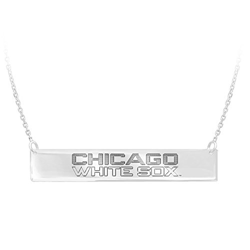 Silver Pendant, Mlb Chicago White Sox Bar (Sox Sterling Silver Pendant)