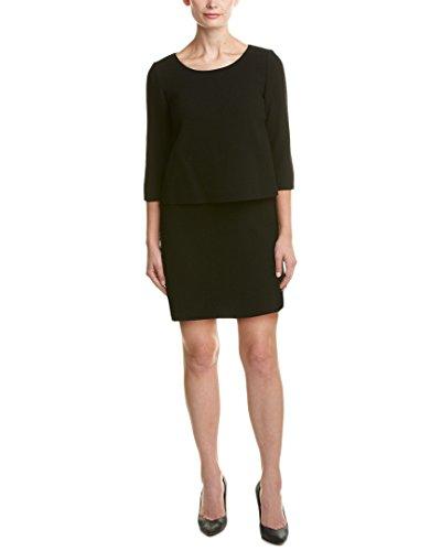 Wool Satin Sheath Dress (Lafayette 148 New York Womens Petite Belinda Wool Sheath Dress,)