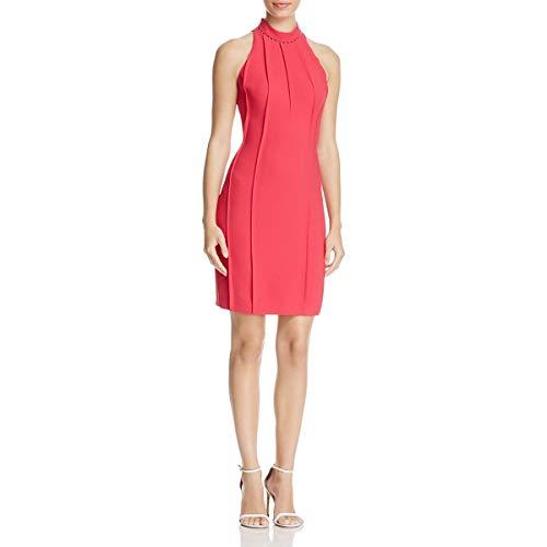 (Elie Tahari Womens Viola Crepe Studded Cocktail Dress Pink 6)