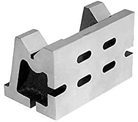 PRECISION QUALITY CAST IRON VEE ANGLE PLATE SLOTTED 3inch X 3inch X 5inch