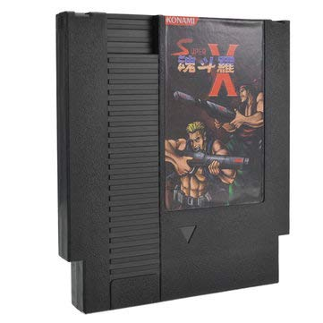 Price comparison product image Video Game Card - Video Game Cartridge - Super Contra X 72 Pin 8 Bit Game Card Cartridge for NES (8 Bit Card Game)