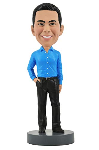 (Slender Male Executive with Hand in Pocket - Custom Bobblehead)