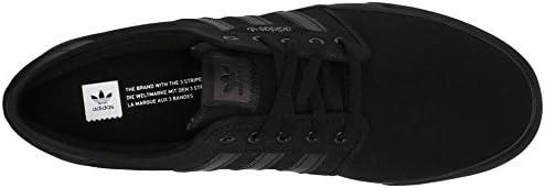 Adidas Performance Seeley Skate Shoe, frêne gris / blanc / noir, 4 M Us, Black/Black/Black, 41 1/3 EU