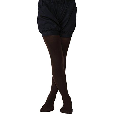 a837f59f70372  靴下屋 クツシタヤキッズ80デニールスポンディッシュタイツ135cm(125~145cm) 日本製無地タイツ