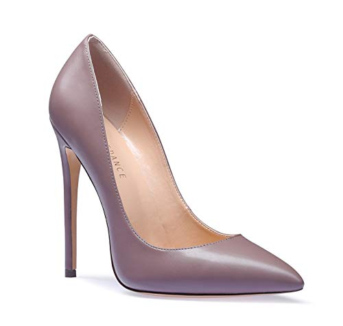 SUNETEDANCE Women's Slip-on Pumps High Heels Pointy Toe Sexy Elegant Stiletto Heels 12CM Heel Shoes Pu Metallic Pump 9 M US ()