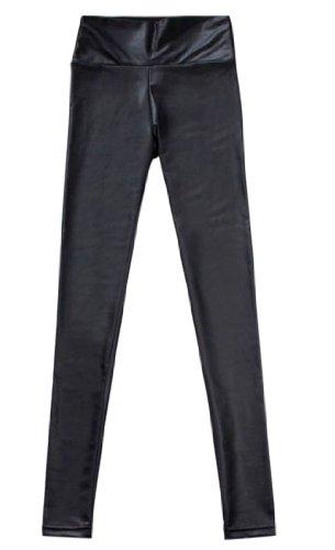 Sexy Skinny High La Piel Leggings De black Mujer waist Simplicidad 1634 qc6txZTwn