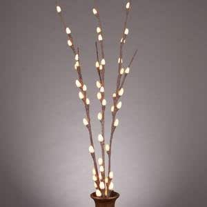 """Everlasting Glow LED 39"""" 48 Lights Electric Pussy Willow Lighted Branch"""