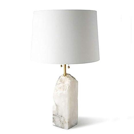 Lámpara LED LED de mármol blanco de tela de hierro posmoderna. Luz ...