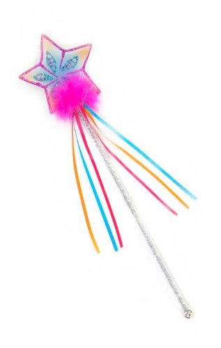 Creative Education Girls Glitter Rainbow Fairy Wand Magic Costume Prop, Pink (Fairy Magic Wand)