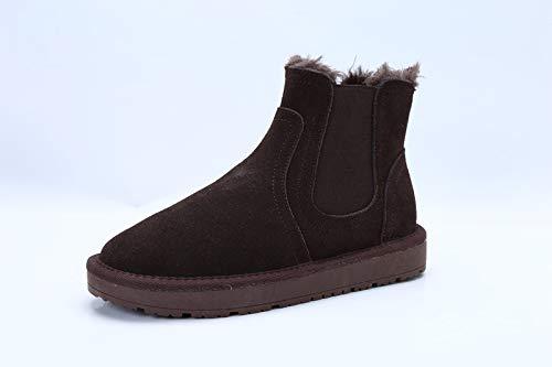 XIGUAStiefel Frau Winter Stiefel Warme Martin Flachen Flachen Flachen Student Schnee Stiefel Winter Schuhe Aus Baumwolle 1b9649
