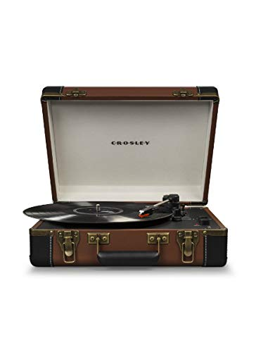 Crosley CR6019D-BR Executive Portable USB Turntable with Bluetooth, Brown (Record Player Brown)