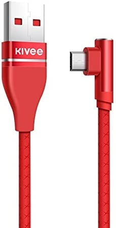 Length Color : Red GuiPing KV-CG011 2.1A Micro to USB Single Angle Head Design Charging Cable 1m