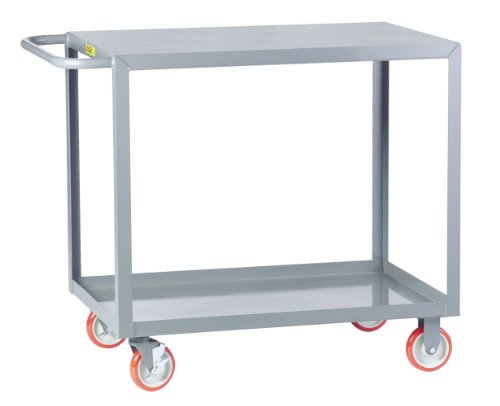 Little Giant LG-2448-BRK Welded Service Cart with Flush Shelves, 1200 lbs Capacity, 48