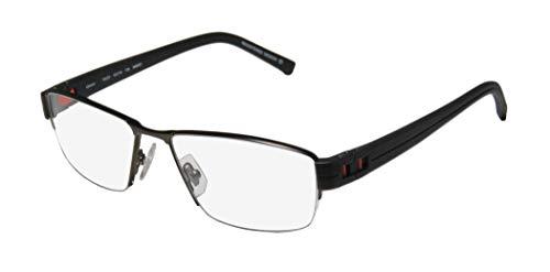 Oga By Morel 7922o Mens Designer Half-rim Flexible Hinges Must Have Original Case Modern Hip Eyeglasses/Spectacles (54-16-135, Dark Olive/Black / ()