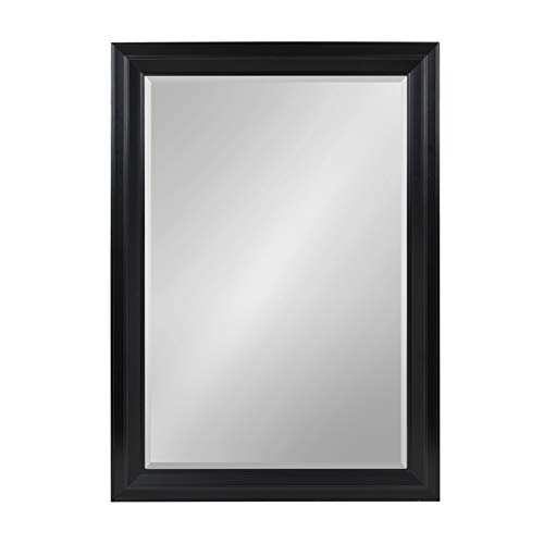 Kate and Laurel Whitley Framed Wall Mirror, 29.5x41.5, Black (Bathroom Mirror Window Over)