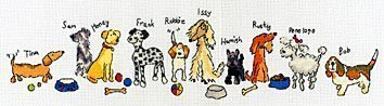 Bothy Threads Row Of Dogs Cross Stitch 14 Count