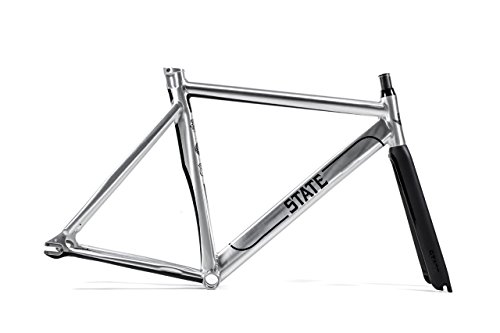 State Bicycle The Undefeated 2.0 7005 Aluminum Fixed Gear Bike Frame and Carbon Fork Set