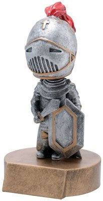 Trophy Crunch Knight Bobblehead Gag Gift - Free Custom Engraving