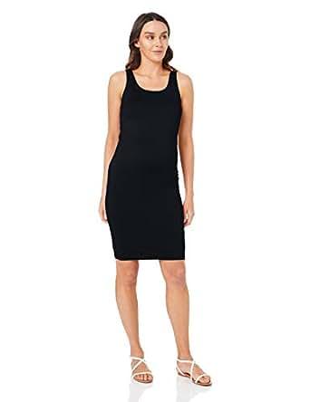 Ripe Maternity Women's Lena Scoop Neck Dress, Black, S