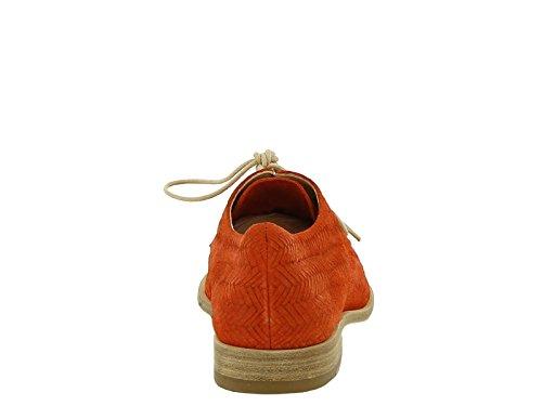 Cordones Castañer mujer en cuero de ante naranja - Número de modelo: MARLENE 1CAV5 852701 Media naranja